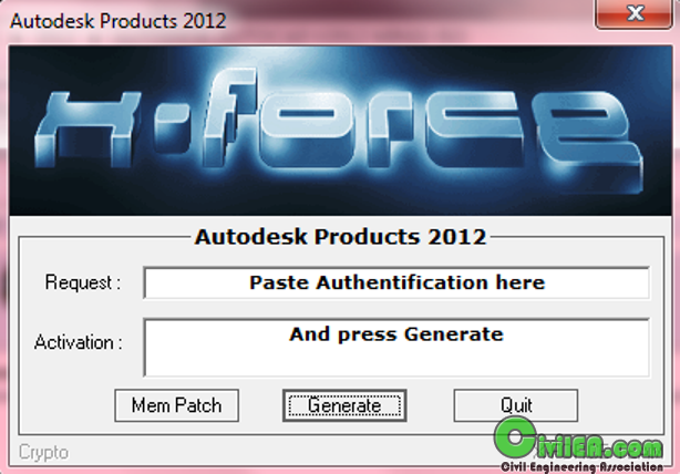 All Autodesk Products 2012 x86 + x64 Keymaker X-Force(crack tất cả các